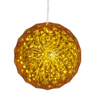 Yellow 30-light 6-inch Outdoor Crystal Ball