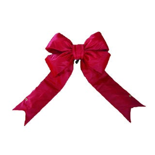 Vickerman Red Nylon 24-inch x 30-inch Outdoor Bow with 7-inch Ribbon