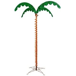 Vickerman Green and Orange Plastic 7-foot LED Rope Light Palm Tree