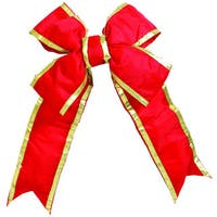 Vickerman Red/Gold Nylon 48-inch x 60-inch Outdoor Bow