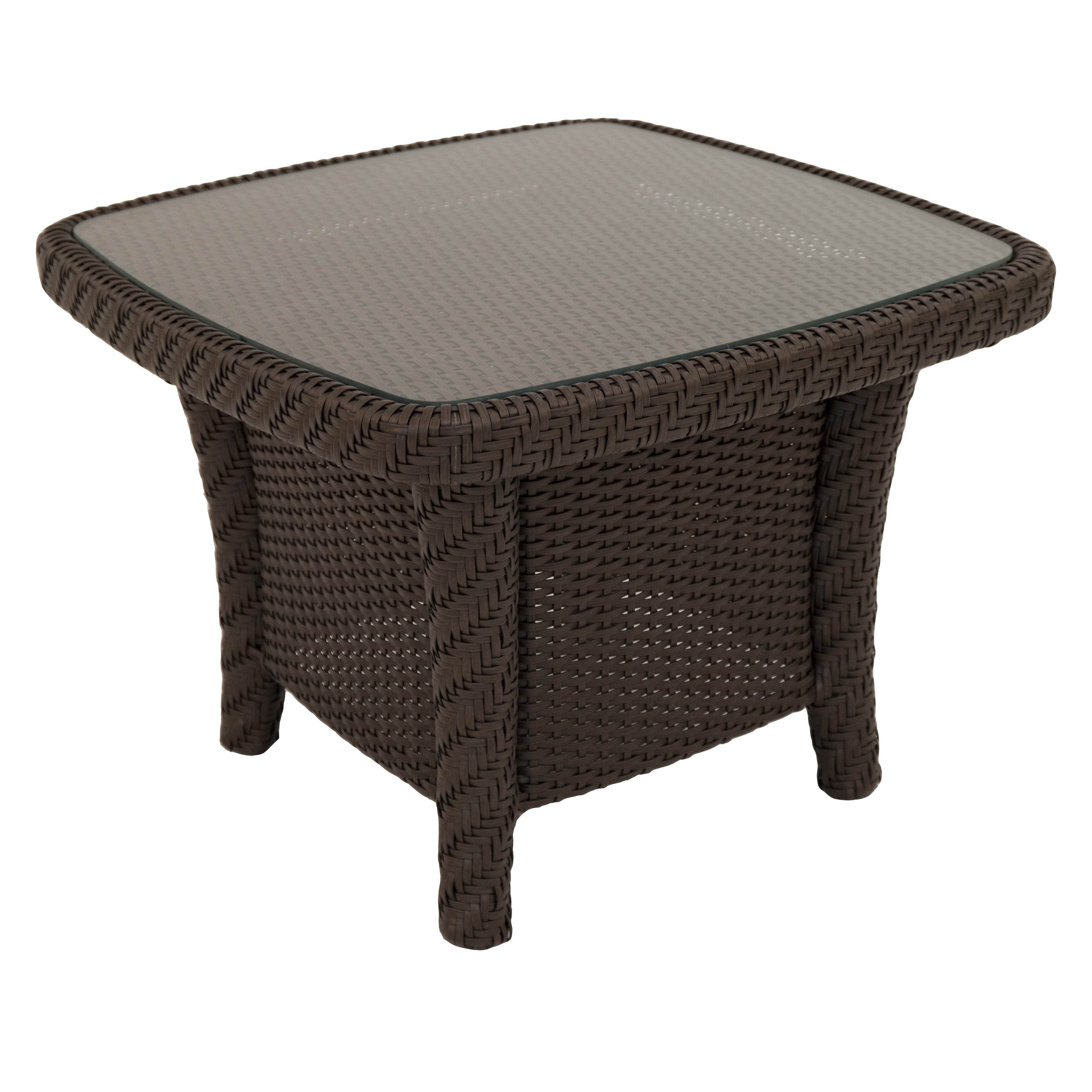 LC Square Chestnut Coffee Table (Chestnut), Brown, Patio ...