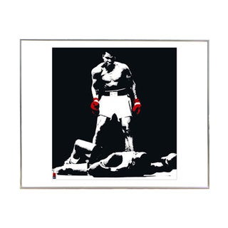 Muhammad Ali Print With Silver Metal Frame (16-inch x 16-inch)