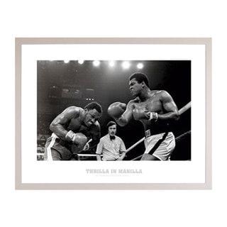 Muhammad Ali Thrilla Print with Poly White Frame