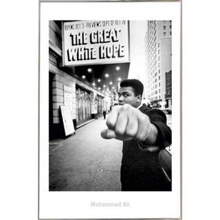 Muhammad Ali 'The Great White Hope' Print with Silver Metal Frame