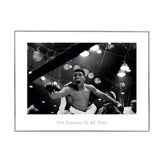 'Muhammad Ali The Greatest' 24-inch x 32-inch Print with Silver Metal Frame