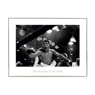 Muhammad Ali The Greatest' 23.5-inch x 31.5-inch Print with Silver Metal Frame