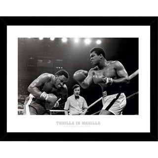 Muhammad Ali Thrilla Print with Black Wood Frame