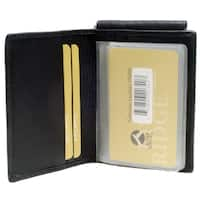 Punita Group Black Lambskin Leather Bi Fold ID Money Clip