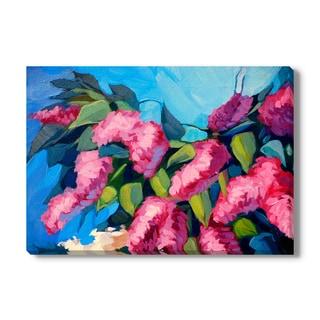 Mikhail Zahranichny 'Lilac Flowers' Canvas Gallery Wrap