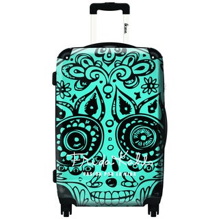 iKase Multicolor Aluminum, Mesh, Metal, Microfiber, Nylon, Polycarbonate 20-inch Graphic Hardside Carry-on Spinner Suitcase