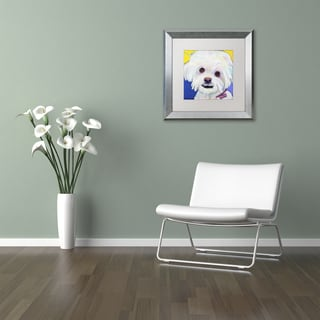 Pat Saunders-White 'Lucy' Matted Framed Art