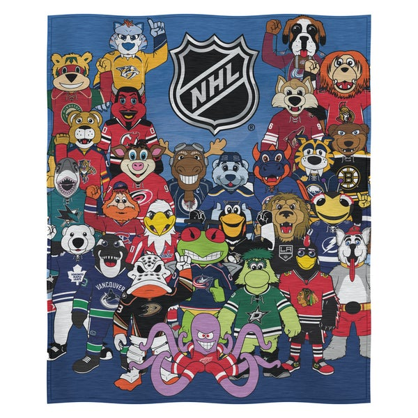 NHL 099 ASG Mascot Sweatshirt Throw