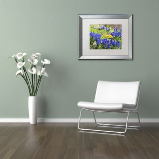 Kurt Shaffer 'Grape Hyacinth' Matted Framed Art
