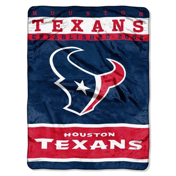 NFL 806 Texans 12TH Man Raschel Throw