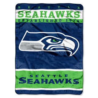 NFL 806 Seahawks 12TH Man Raschel Throw