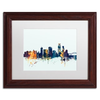 Michael Tompsett 'Corpus Christie Skyline Blue' Matted Framed Art