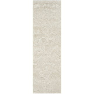Safavieh Florida Ultimate Shag Creme / Cream Area Rug (2'3 X 9')