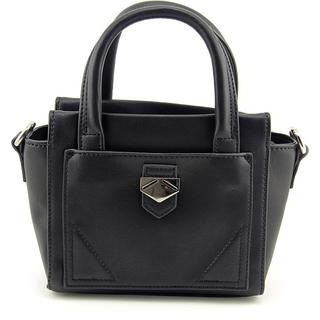 Danielle Nicole Women's Claire Mini Satchel Black Faux Leather Handbag