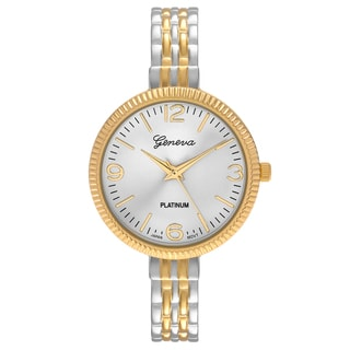 Geneva Platinum Women's Round Face Bangle Cuff Watch