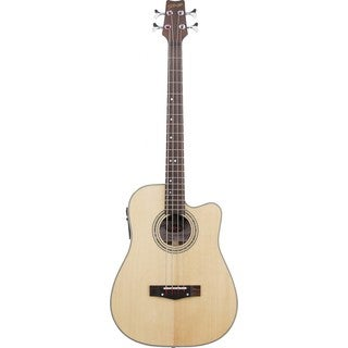 Stagg AB203CE-NS Natural/Satin Dreadnought Cutaway Acoustic/Electric Bass Guitar