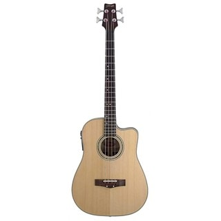 Stagg AB203CE-N Dreadnought Natural Cutaway Acoustic-electric Bass Guitar