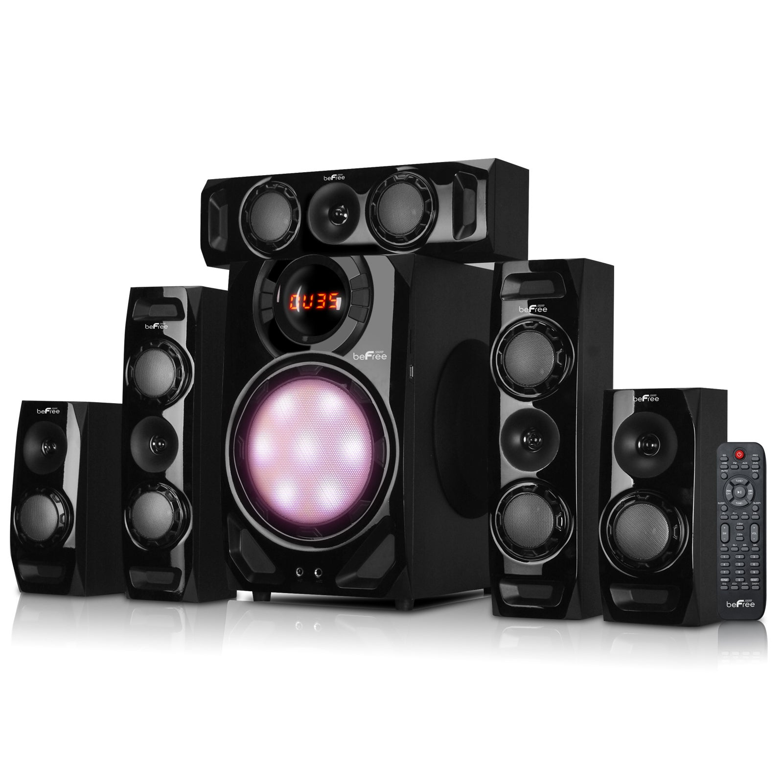 beFree Sound 5.1-channel Surround Sound Bluetooth Black S...