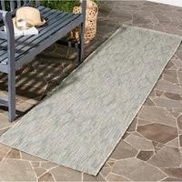 Safavieh Indoor/ Outdoor Courtyard Grey/ Grey Rug - 2' 3 x 8'