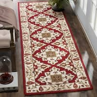 Safavieh Hand-hooked Easy to Care Ivory/ Ivory Rug - 2' 6 x 10'