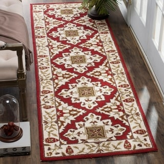 Safavieh Hand-hooked Easy to Care Ivory/ Ivory Rug (2' 6 x 8')
