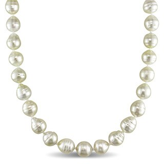 Miadora 14k Yellow Gold South Sea Golden Pearl Strand 18 Inch Necklace (8-10mm)