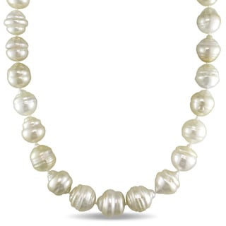 Miadora 14k Yellow Gold South Sea Golden Pearl Strand 18 Inch Necklace (11-13mm)