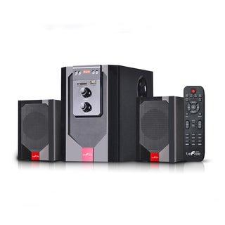 beFree Red Sound 2.1 Channel Surround Sound Bluetooth Speaker System