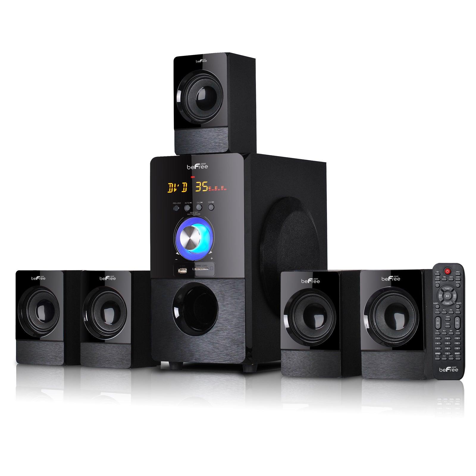 beFree Sound Black 5.1 Channel Surround Sound Bluetooth S...