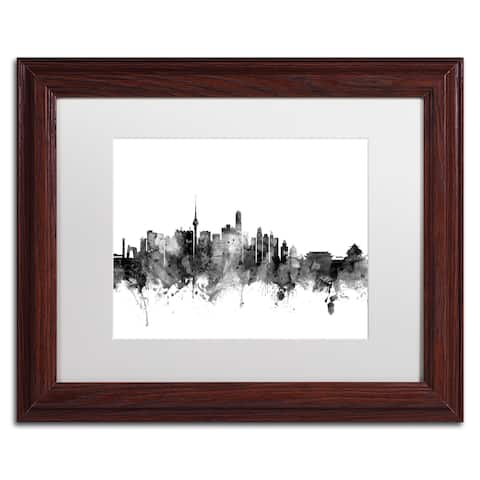 Michael Tompsett 'Beijing China Skyline B&W' Matted Framed Art
