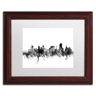 Michael Tompsett 'Tulsa Oklahoma Skyline B&W' Matted Framed Art