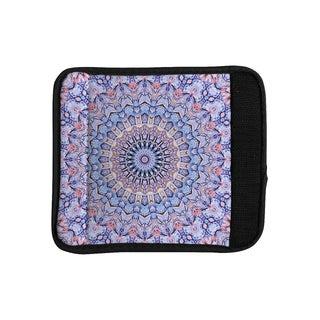 KESS InHouse Iris Lehnhardt 'Summer Lace II' Circle Purple Luggage Handle Wrap