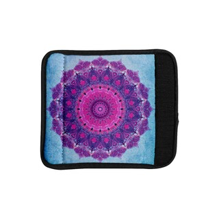 KESS InHouse Iris Lehnhardt 'Grunge Mandala' Purple Blue Luggage Handle Wrap