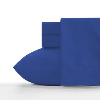 Crayola Blue Berry Blue Soft Brushed Microfiber Sheet Set