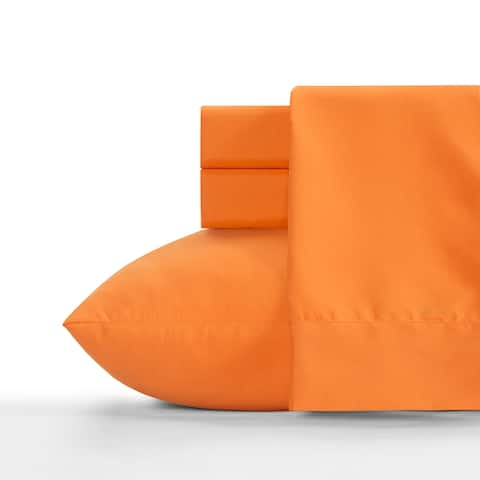 Crayola Outrageous Orange Soft Brushed Microfiber Bed Sheet Set