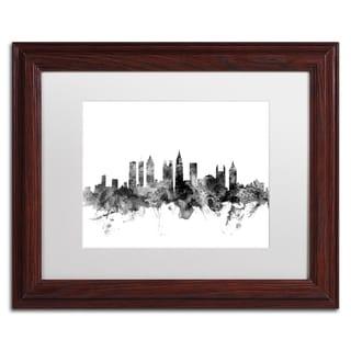 Michael Tompsett 'Atlanta Georgia Skyline B&W' Matted Framed Art