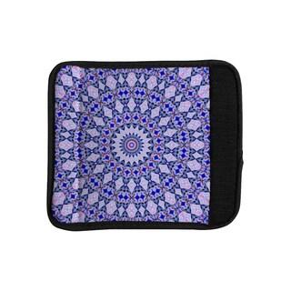 KESS InHouse Iris Lehnhardt 'Kaleidoscope Blue' Circle Blue Luggage Handle Wrap
