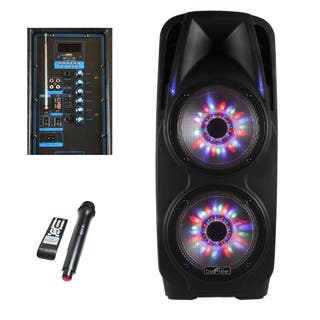 beFree Sound 2-inch x 10-inch Woofer Portable Bluetooth Powered PA Speaker|https://ak1.ostkcdn.com/images/products/12104095/P18966261.jpg?impolicy=medium