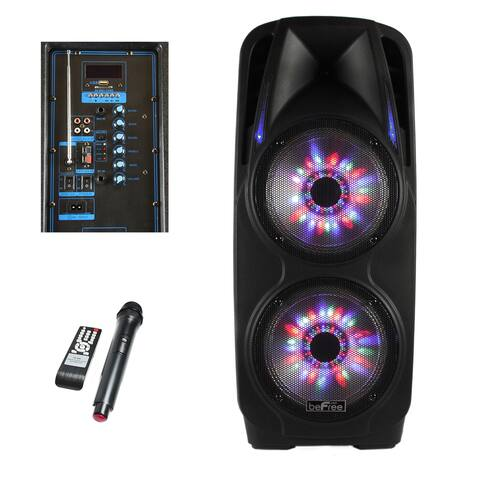 beFree Sound 2-inch x 10-inch Woofer Portable Bluetooth Powered PA Speaker