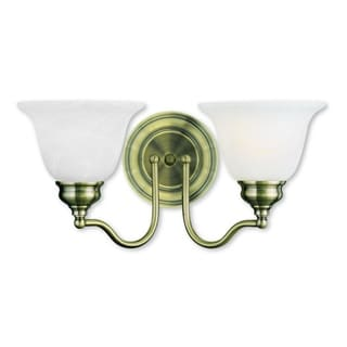 Livex Lighting Essex 2-light Antique Brass Steel Bath Light