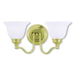 Livex Lighting Essex 2-light Polished Brass Bath Fixture