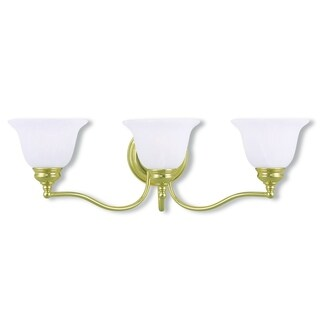 Livex Lighting Essex Polished Brass 3-light Bath Light