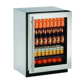 U-Line 2000 Series 2224 24-inch Stainless Steel Framed Glass Door Refrigerator