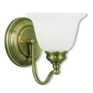 Livex Lighting Essex One-Light Antique Brass Bath Light
