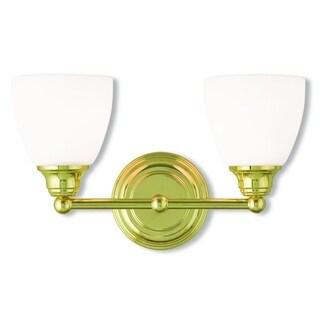 Livex Lighting Somerville 2-Light Polished Brass Bath Light