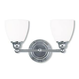 Livex Lighting Somerville 2-light Polished Chrome Steel Bath Light